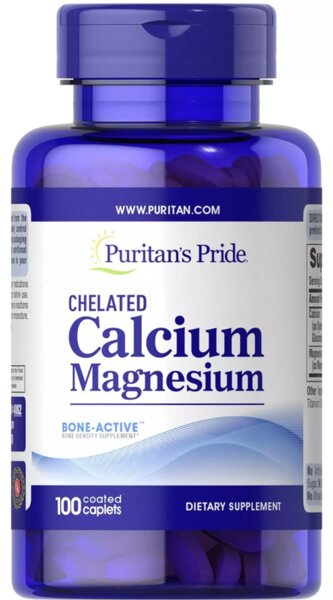 Puritan's Pride Chelated Calcium Magnesium - 100 таблетки