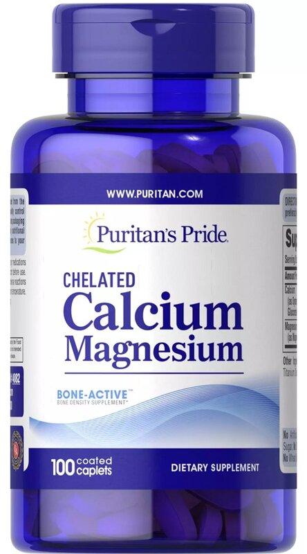Puritan's Pride Chelated Calcium Magnesium - 100 таблетки