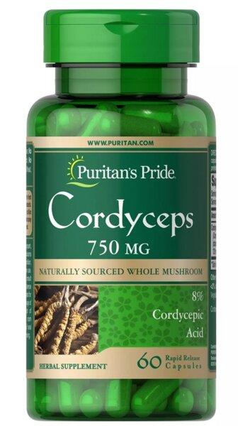 Puritan's Pride Cordyceps 750mg - 60 капсули