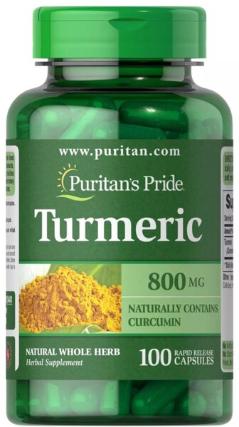 Puritan's Pride Turmeric 800mg - 100 капсули