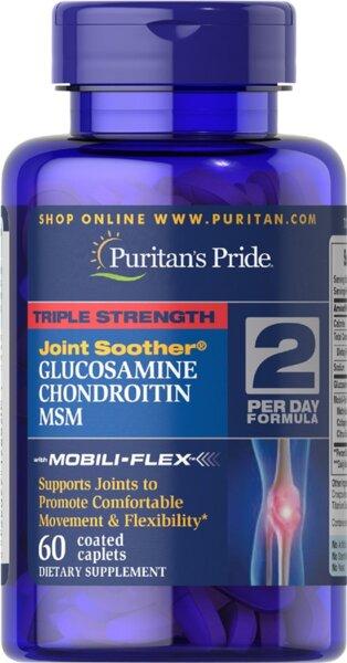 Puritan's Pride Glucosamine, Chondroitin & MSM - 60 таблетки