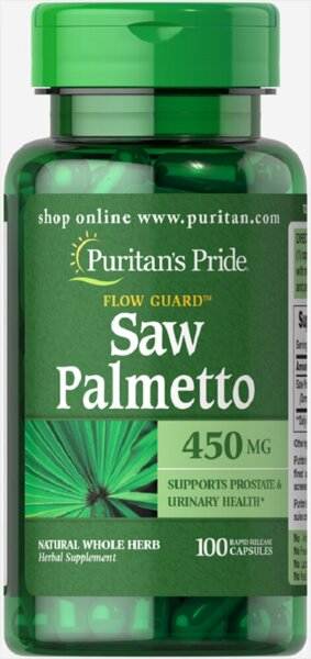 Puritan's Pride Saw Palmetto 450mg - 100 капсули