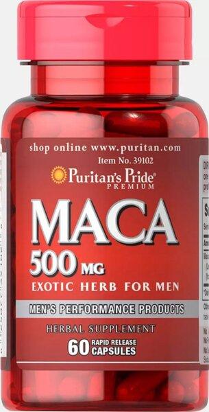 Puritan's Pride Maca 500mg - 60 капсули