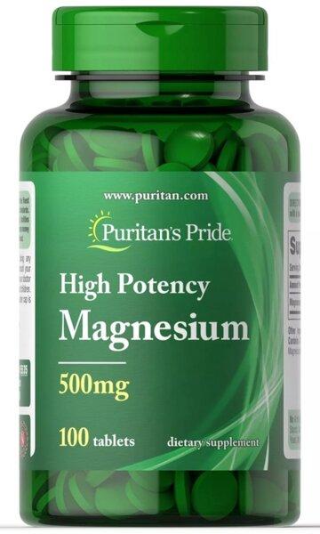 Puritan's Pride Magnesium 500mg - 100 таблетки