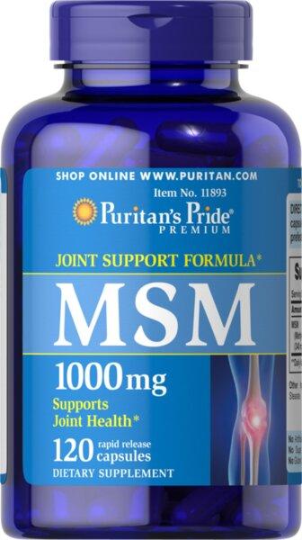 Puritan's Pride MSM 1000mg - 120 капсули