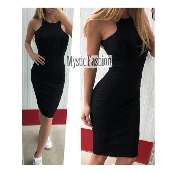 Черна рокля кроп