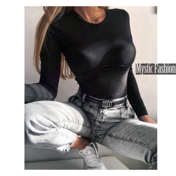 Черна блуза корсет