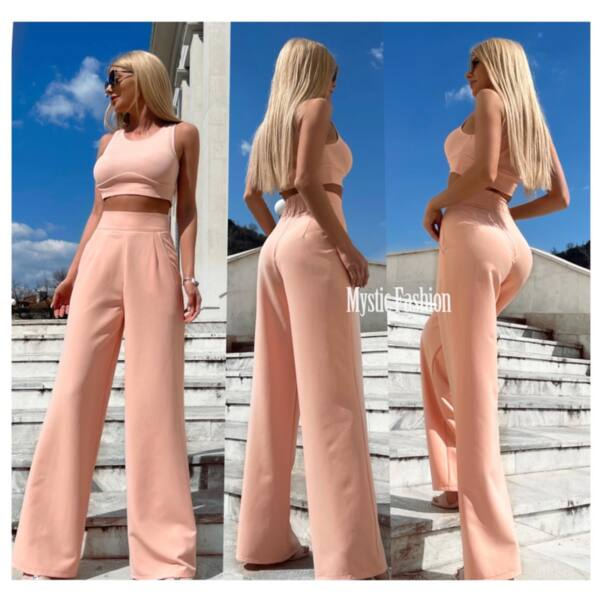 Розов комплект бюстие и панталон