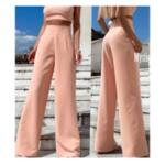Розов широк панталон