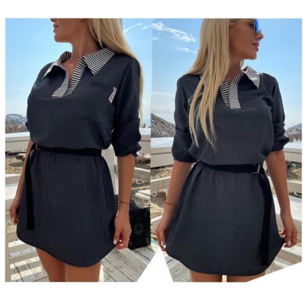 Дънкова риза рокля ЛОРА