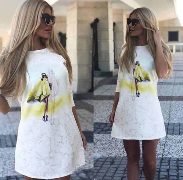 Бяла рокля Lady