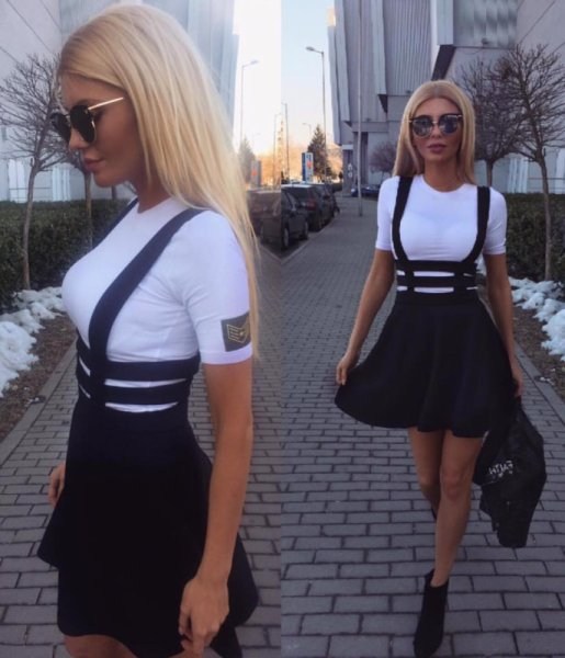 Черен сукман и тениска АРМИ  комплект