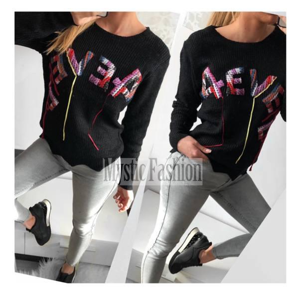 Черен пуловер 4евер