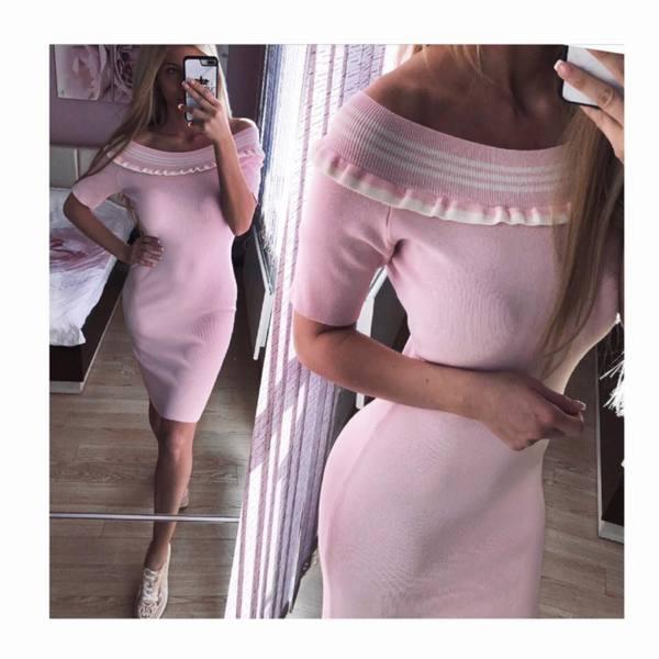 Розова рокля рипс