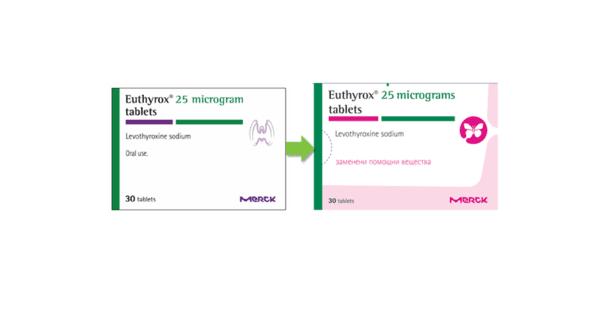 Еутирокс с нов състав и визия на опаковките