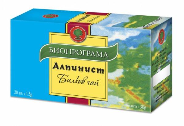 Билков чай Алпинист филтър 20 бр. Биопрограма