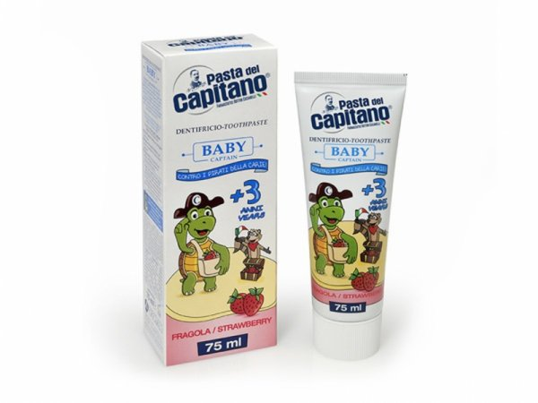 Pasta Del Capitano Паста за зъби Baby 3+ ягода 75мл