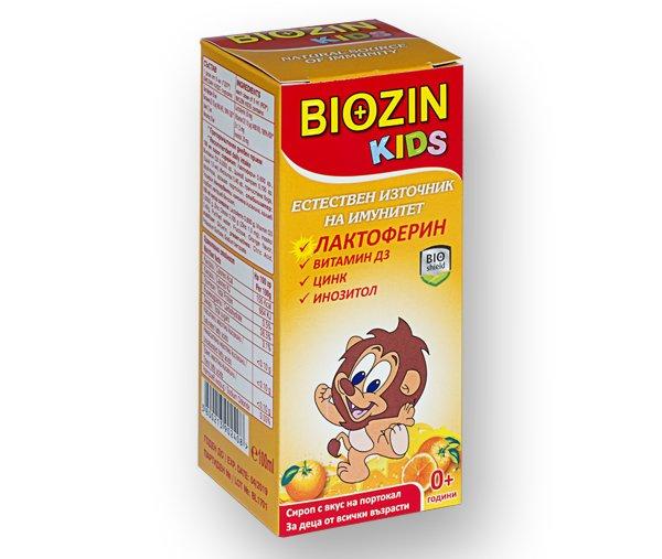 Биозин (Biozin) KIDS с Лактоферин сироп 100мл