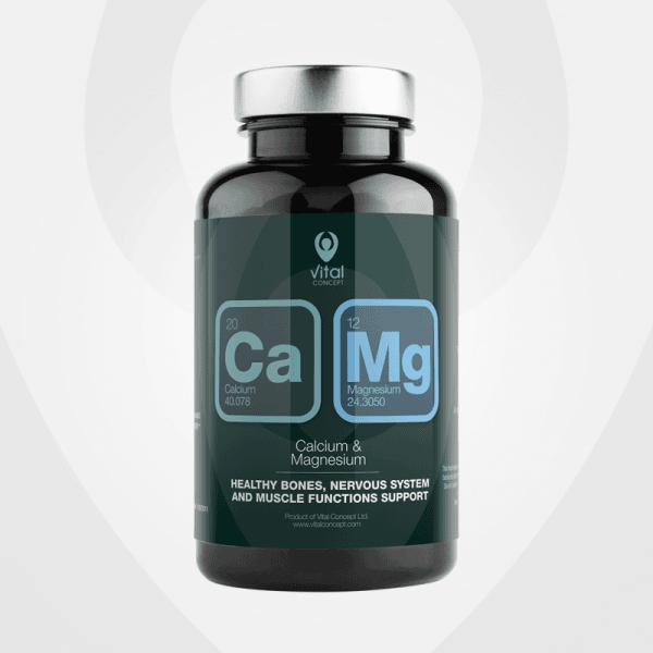 Магнезий и Калций (Mg&Ca) капсули x90