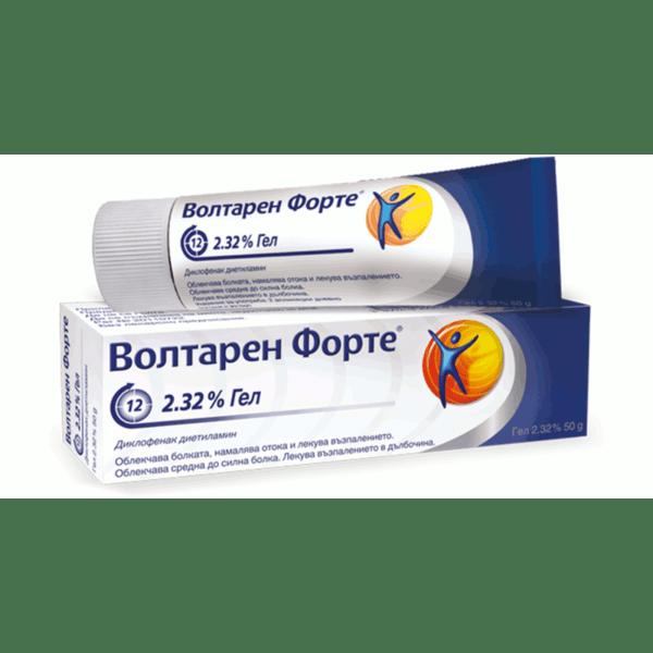 Волтарен Форте (Voltaren Forte) гел 2.32% 50г