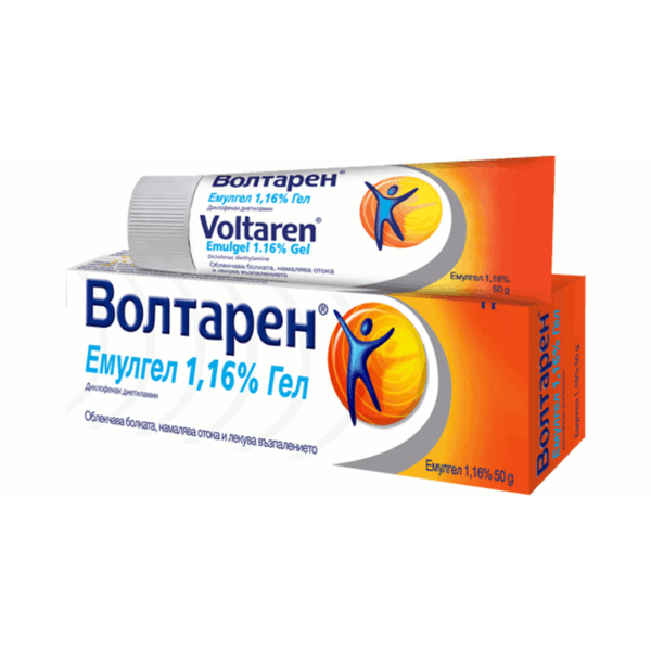 Волтарен (Voltaren) емулгел 1.16% 50г