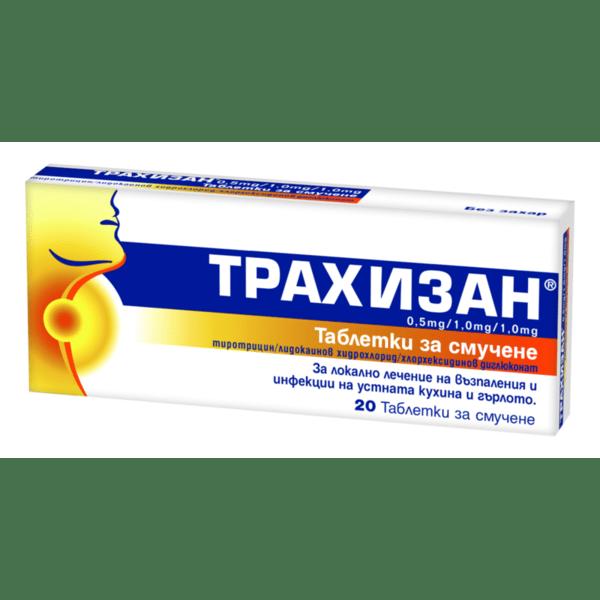 Трахизан (Trachisan) таблетки за смучене x20
