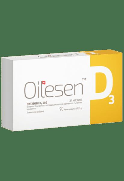 Оилесен Д3 капсули 400IU x90 (Oilesen D3)