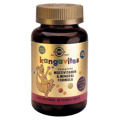 Солгар (Solgar Kangavites) Детски витамини Тропикал таблетки за дъвчене x60