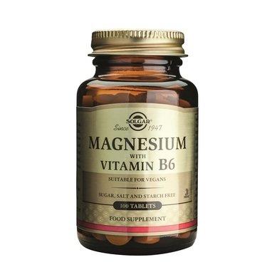 Солгар (Solgar) Магнезий с витамин Б6 таблетки x100