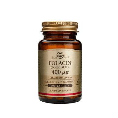 Солгар Фолиева киселина таблетки 0.4мг x100 (Solgar Folacin)