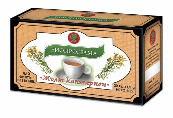 Чай Жълт кантарион филтър 20 бр. Биопрограма