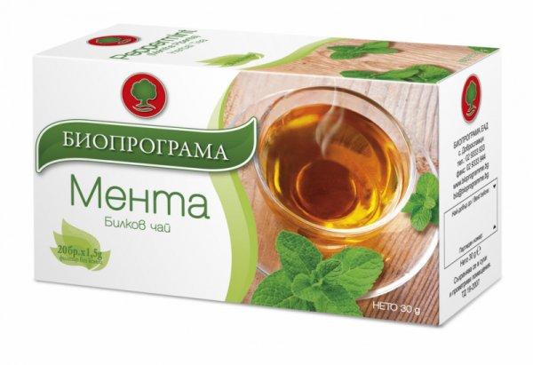 Чай Мента филтър 20 бр. Биопрограма
