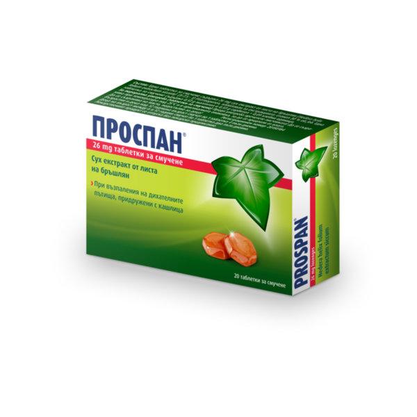 Проспан таблетки за смучене 26мг x20 (Prospan lozenges)