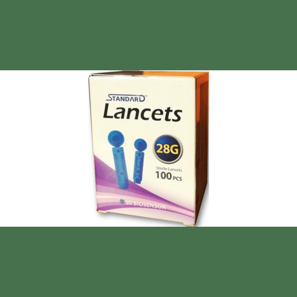 Ланцети за убождащо устройство на Глюкомер SD Code Free x100