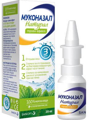 Муконазал Натурал (Muconasal Natural) спрей за нос 20мл