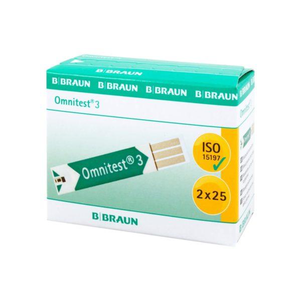 Тест ленти за глюкомер B. Braun Omnitest-3 50 броя