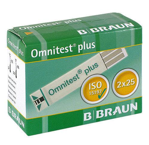 Тест ленти за глюкомер B. Braun Omnitest Plus 50 броя