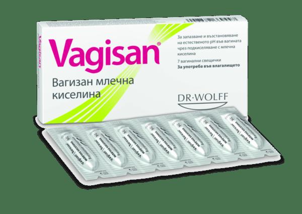 Вагизан (Vagisan) Вагинални свещички (песари) x7