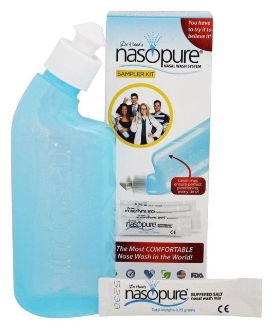 Назопюр за възрастни комплект за носна промивка 4 прахчета (Nasopure)