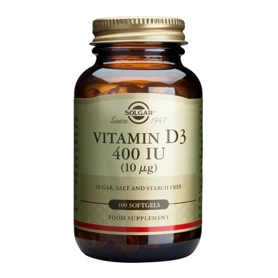 Солгар (Solgar) Витамин D3 капсули 400IU x100