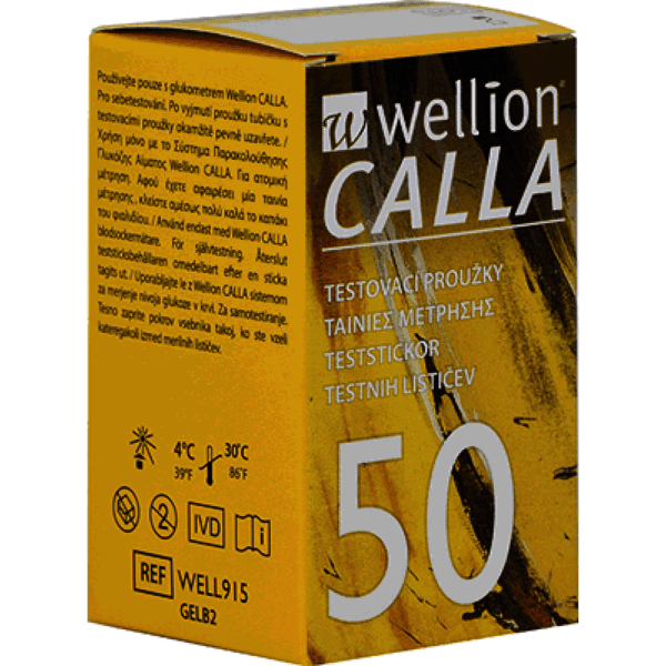 Тест ленти Wellion CALLA 50 броя (Велион Кала)