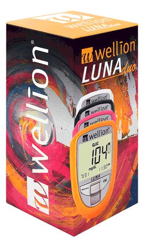 Глюкомер за кръвна захар и Холестерол Wellion LUNA DUO с 60 броя тест лент за кръвна захар и 5 тест ленти за холестерол