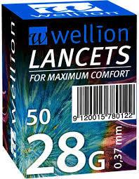 Ланцети за убождащо устройство Wellion 28G 0.36мм 50 броя
