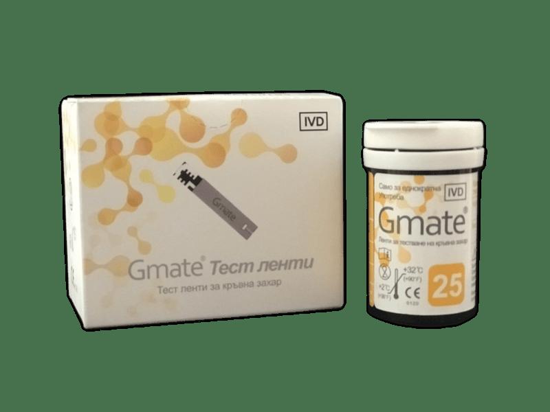 Тест ленти Gmate за кръвна захар 50 броя