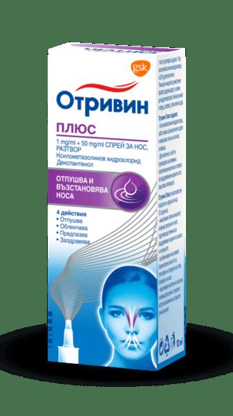 Отривин плюс (Otrivin plus) спрей за нос 10мл