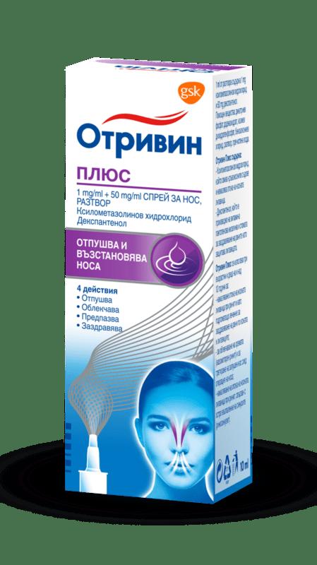 Отривин Ментол (Otrivin Menthol) спрей за нос 0.1% 10мл-Copy