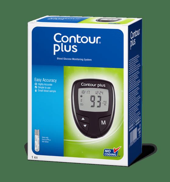 Глюкомер Contour Plus с 5 броя тест ленти
