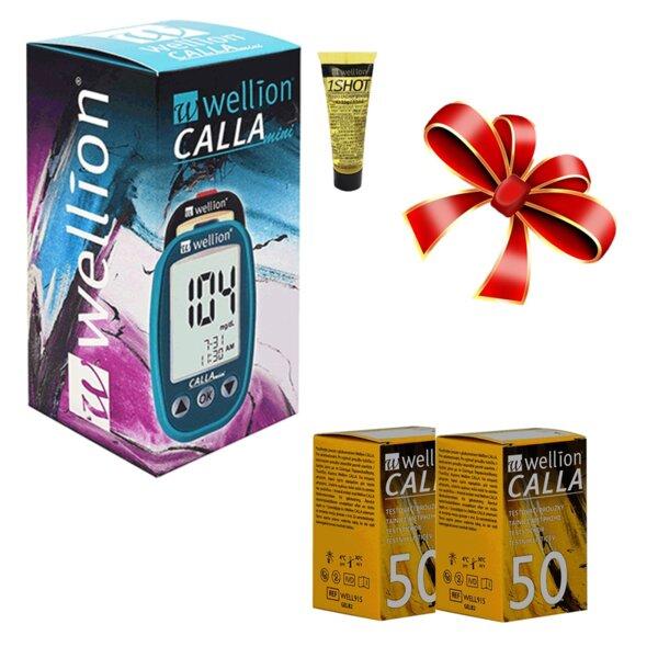 ПАКЕТ 100 тест ленти Wellion CALLA + глюкомер CALLA Mini и Wellion 1 SHOT