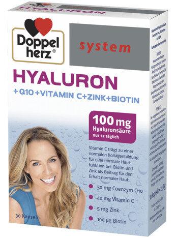 Допелхерц систем Хиалурон 100мг капсули x30 (Doppelherz system Hyaluron)