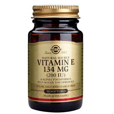 Солгар Витамин Е капсули 200IU (134мг) x50 (Solgar Vitamin E)